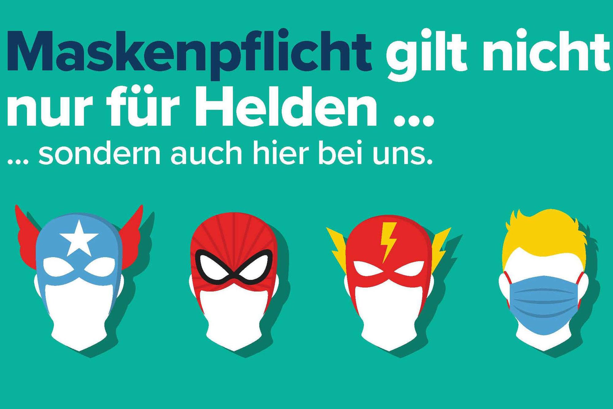 AB SOFORT GILT: FFP2-Maskenpflicht