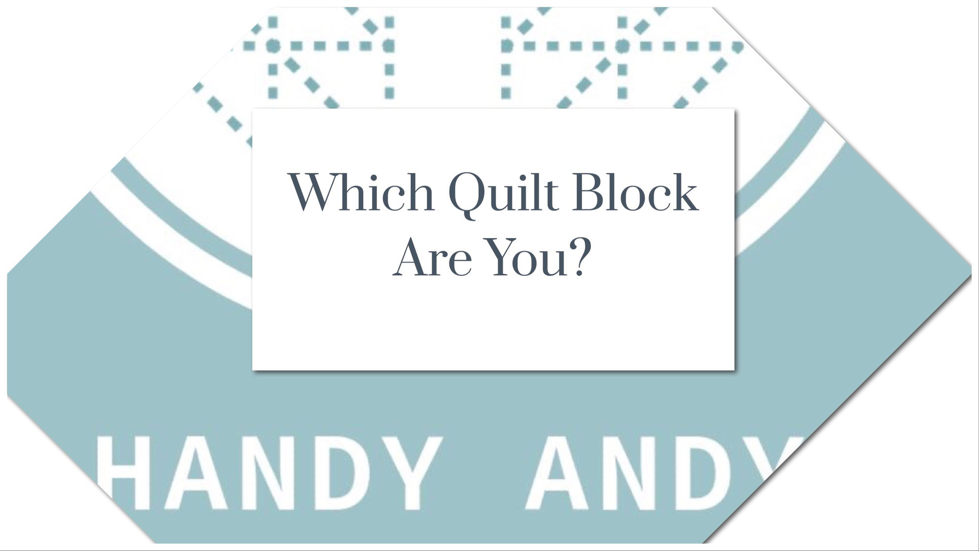 Quilt Block Quiz