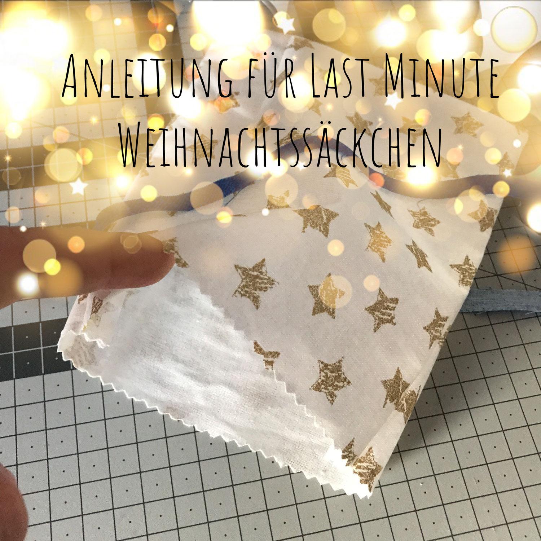 Nähanleitung Weihnachtssäckchen
