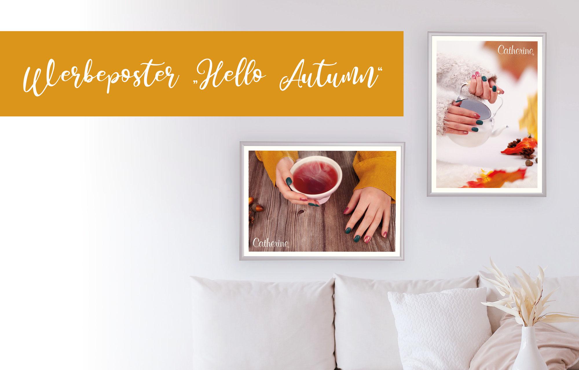 """Werbeposter """"Hello Autumn"""""""