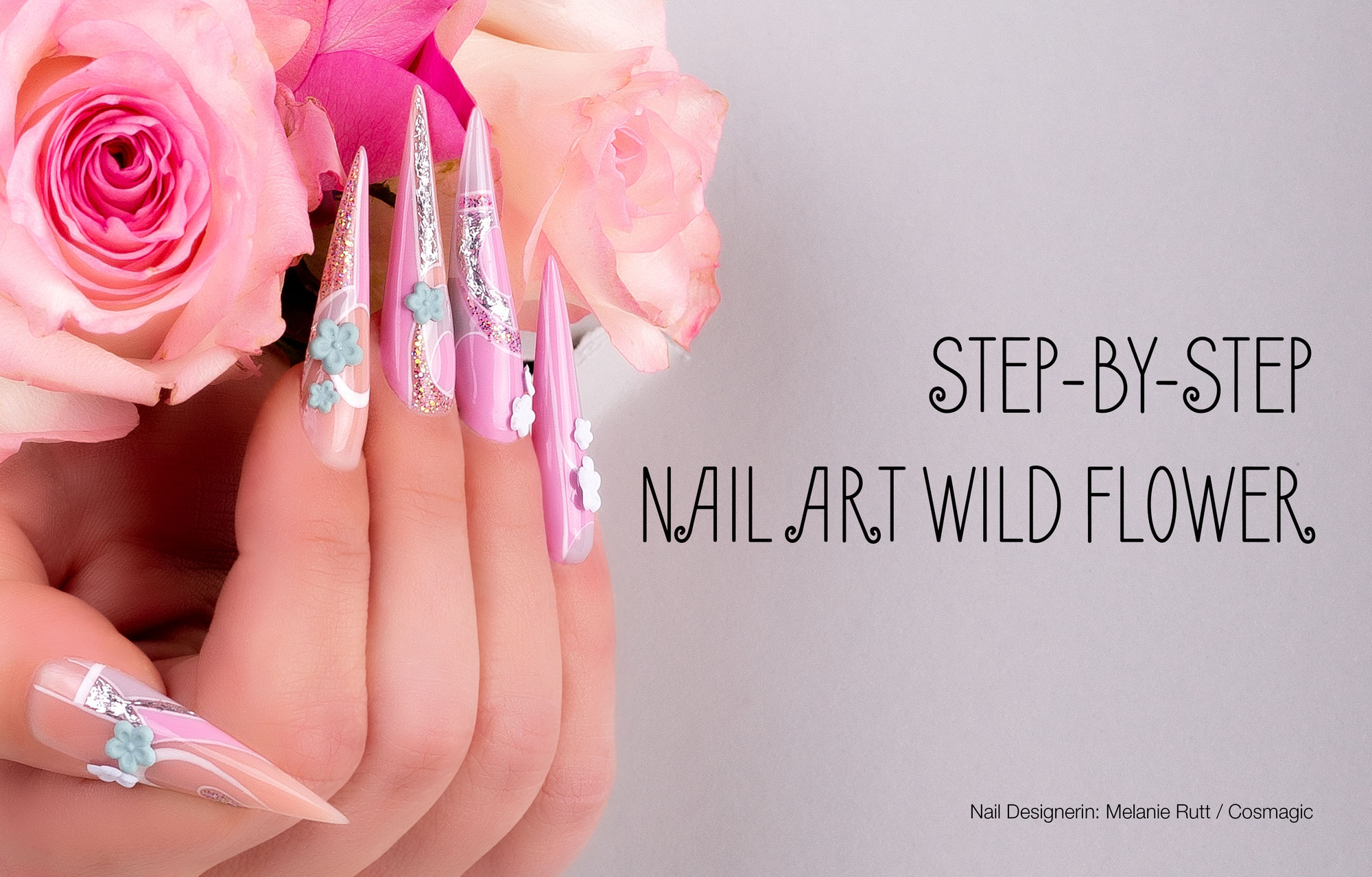 Nail Art Wild Flower