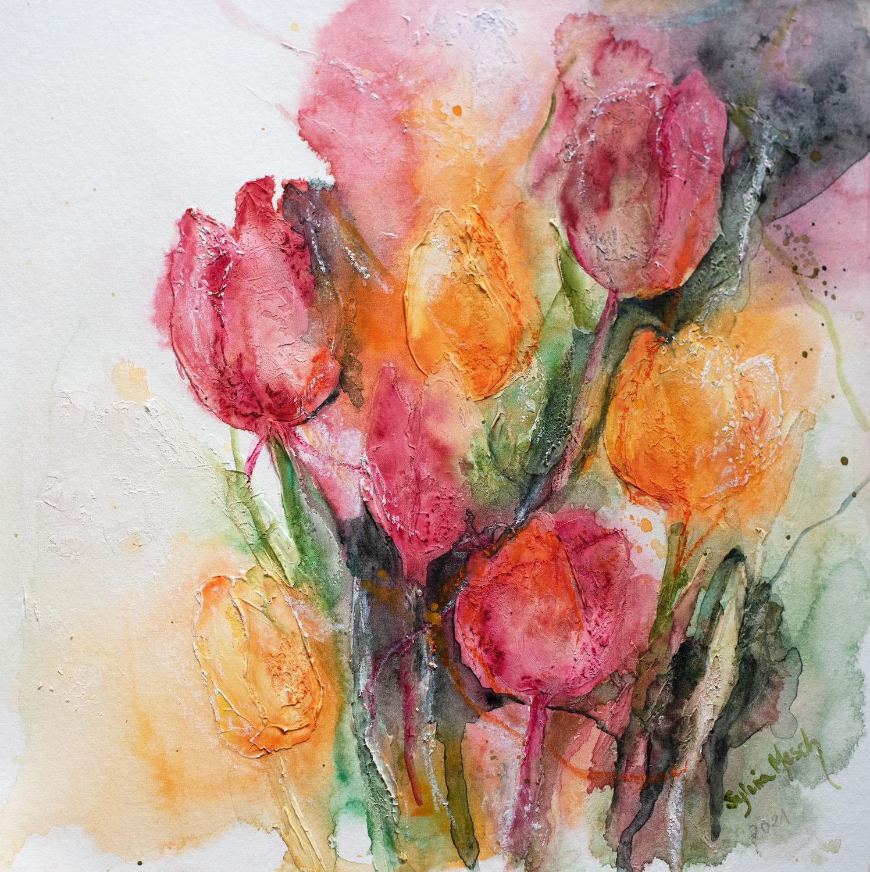 Tulpen in Aquarell malen
