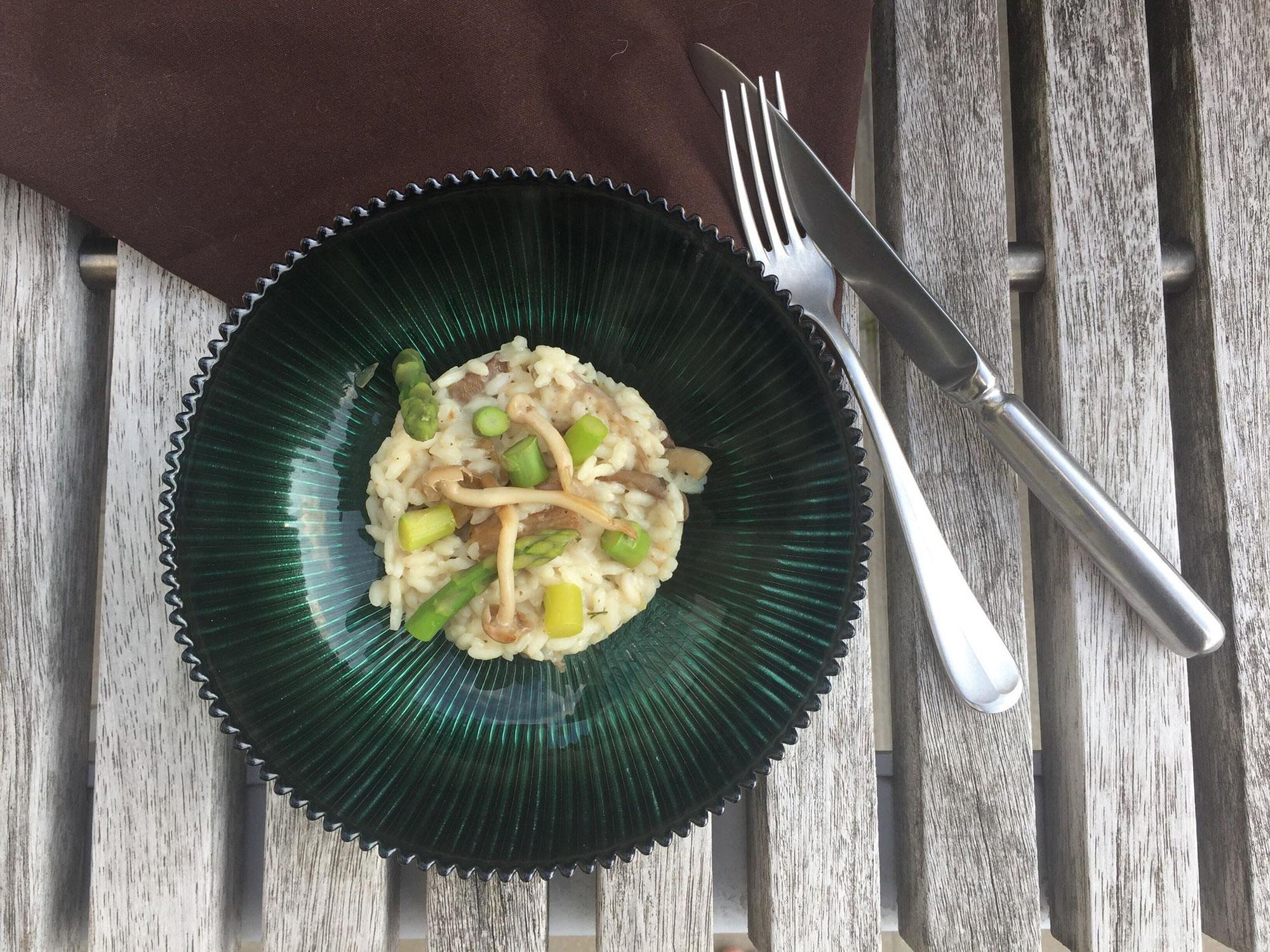 Risotto met oesterzwammen