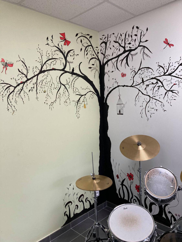 Fresques de Rose-Marie à l'école de musique