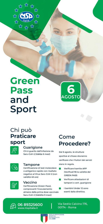 Green Pass and Sport MSP ITALIA