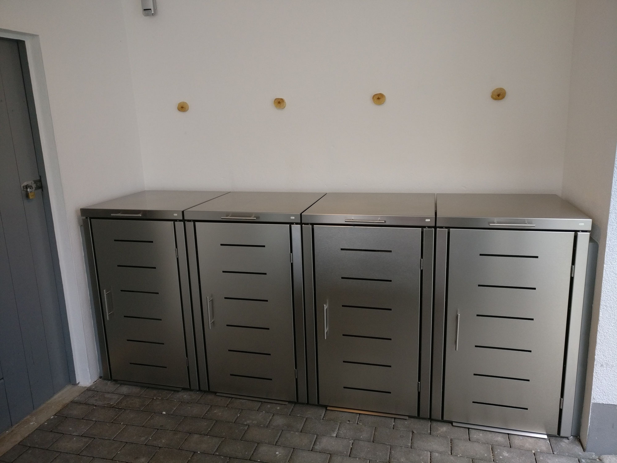 Müllboxen Edelstahl, Modell Toppic