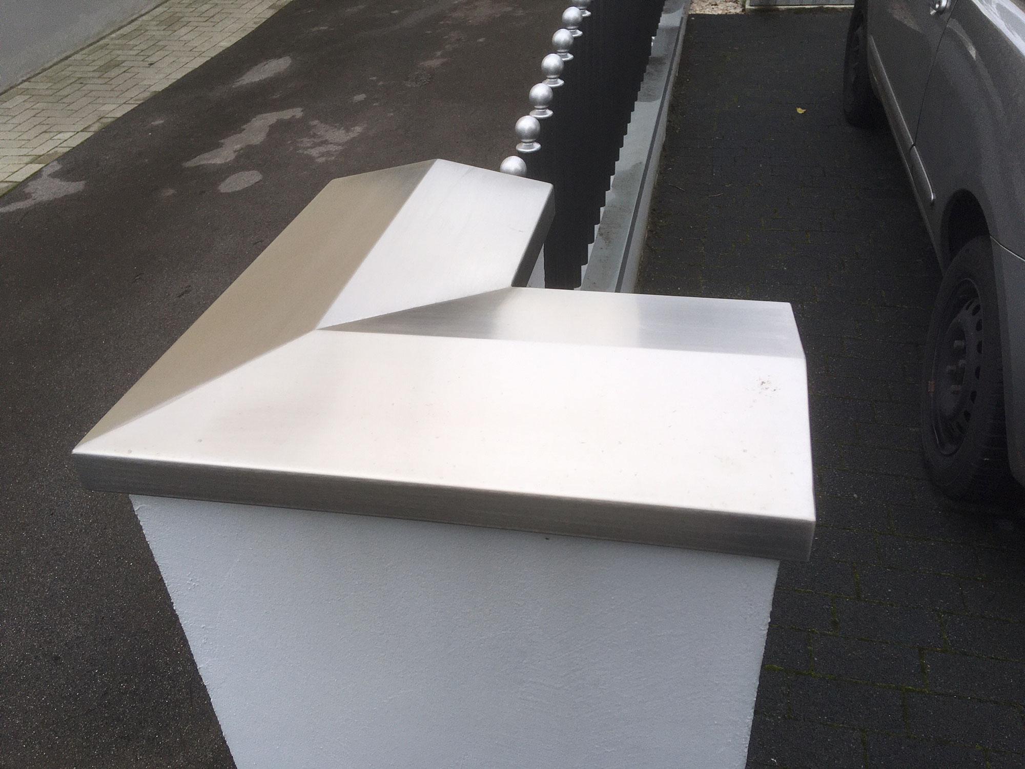 Mauerabdeckung Metall