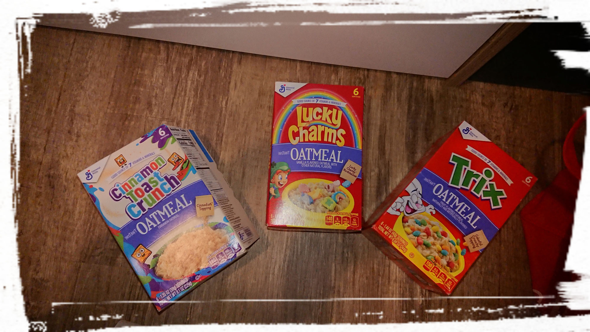 General Mills Oatmeal: Trix, Lucky Charms und Cinnamon Toast Crunch
