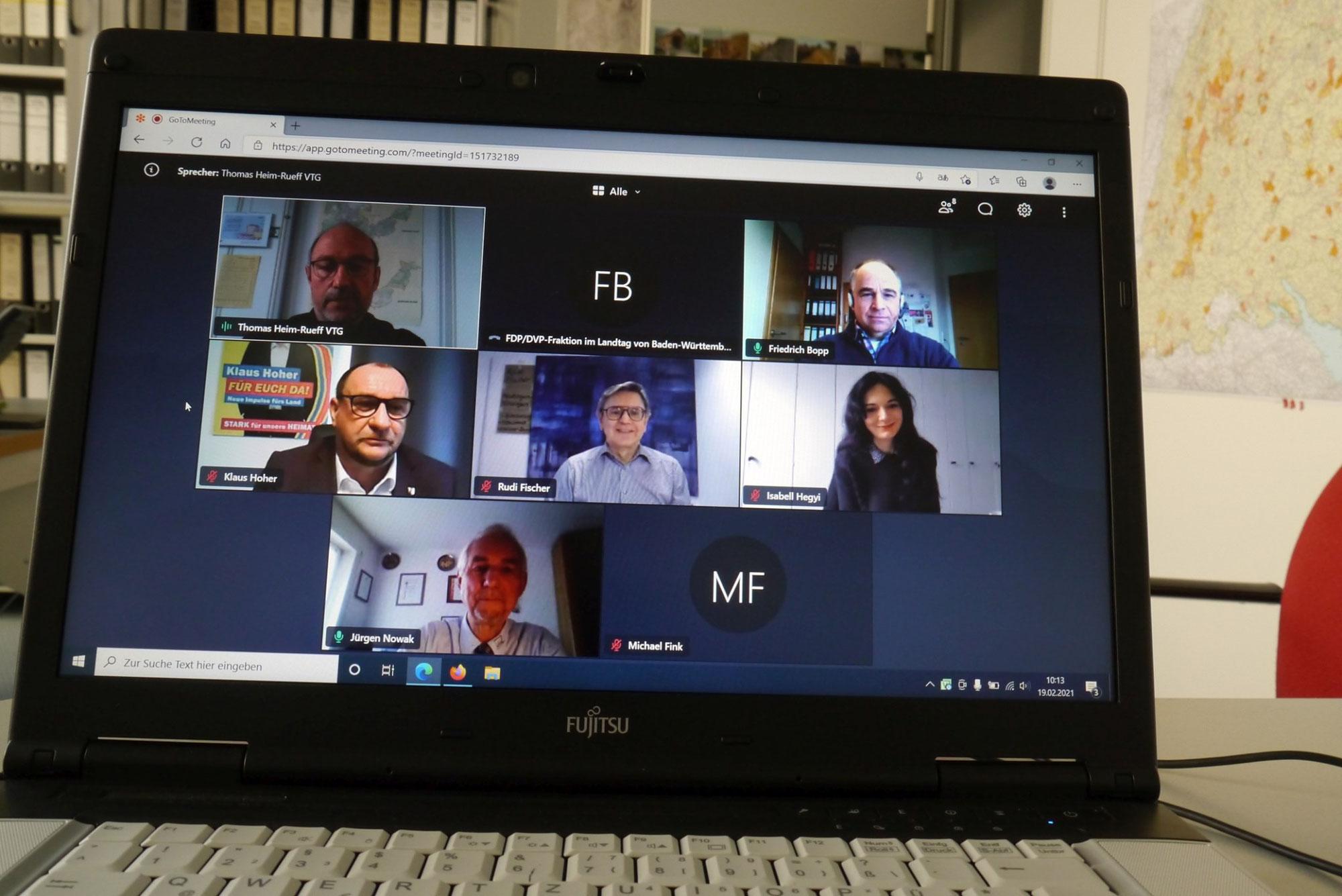 Gesprächstermin mit dem Verband der Teilnehmergemeinschaften Baden-Württemberg (VTG) zur Bedeutung der Flurneuordnung.