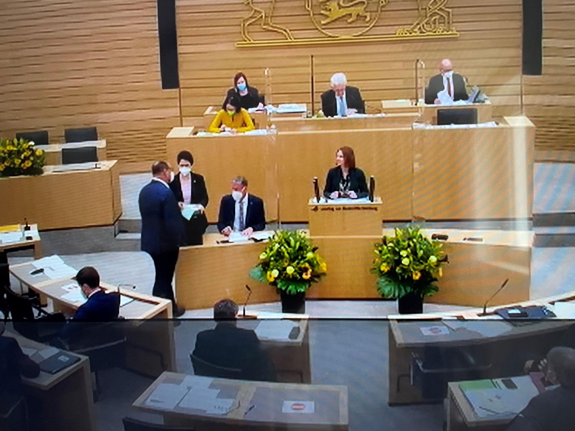 Erste Sitzung im Landtag!