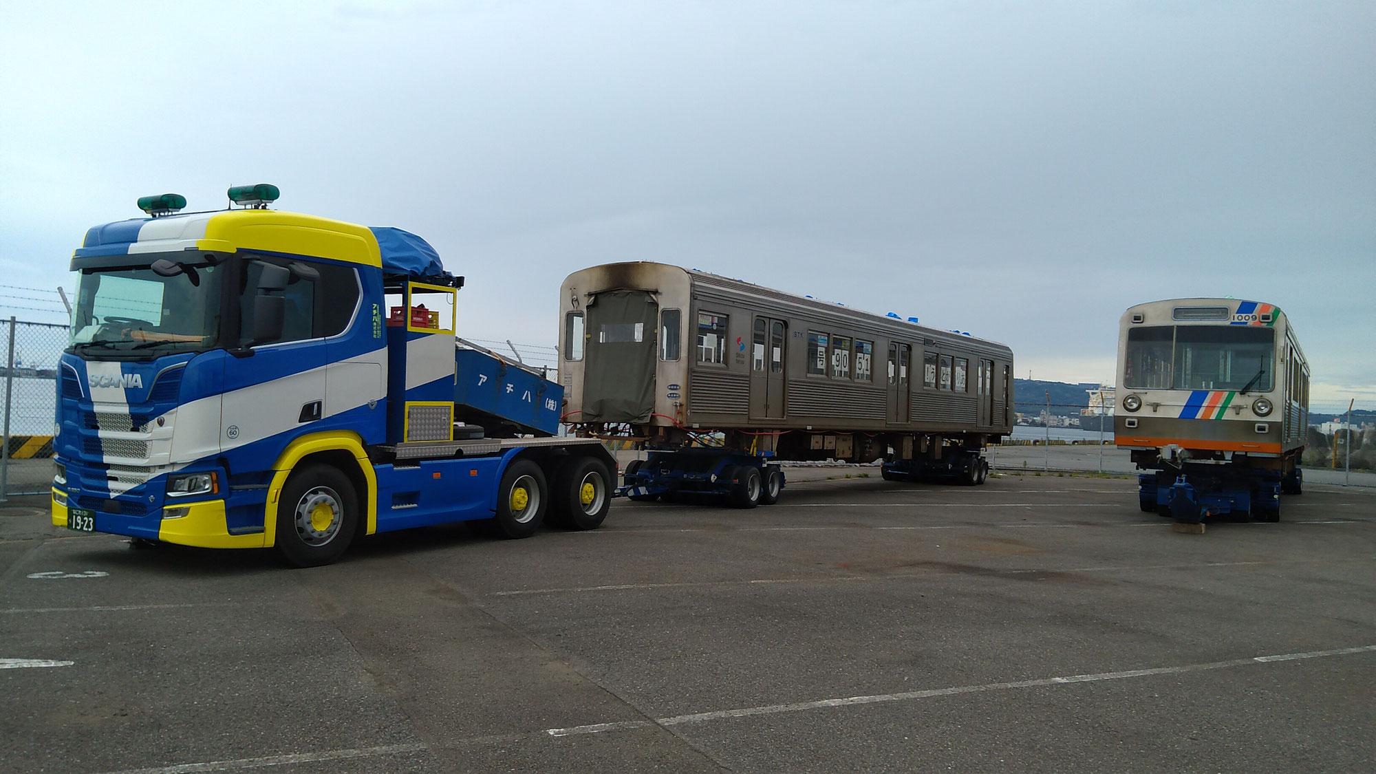 清水発_静鉄電車がRORO船で熊本へ!