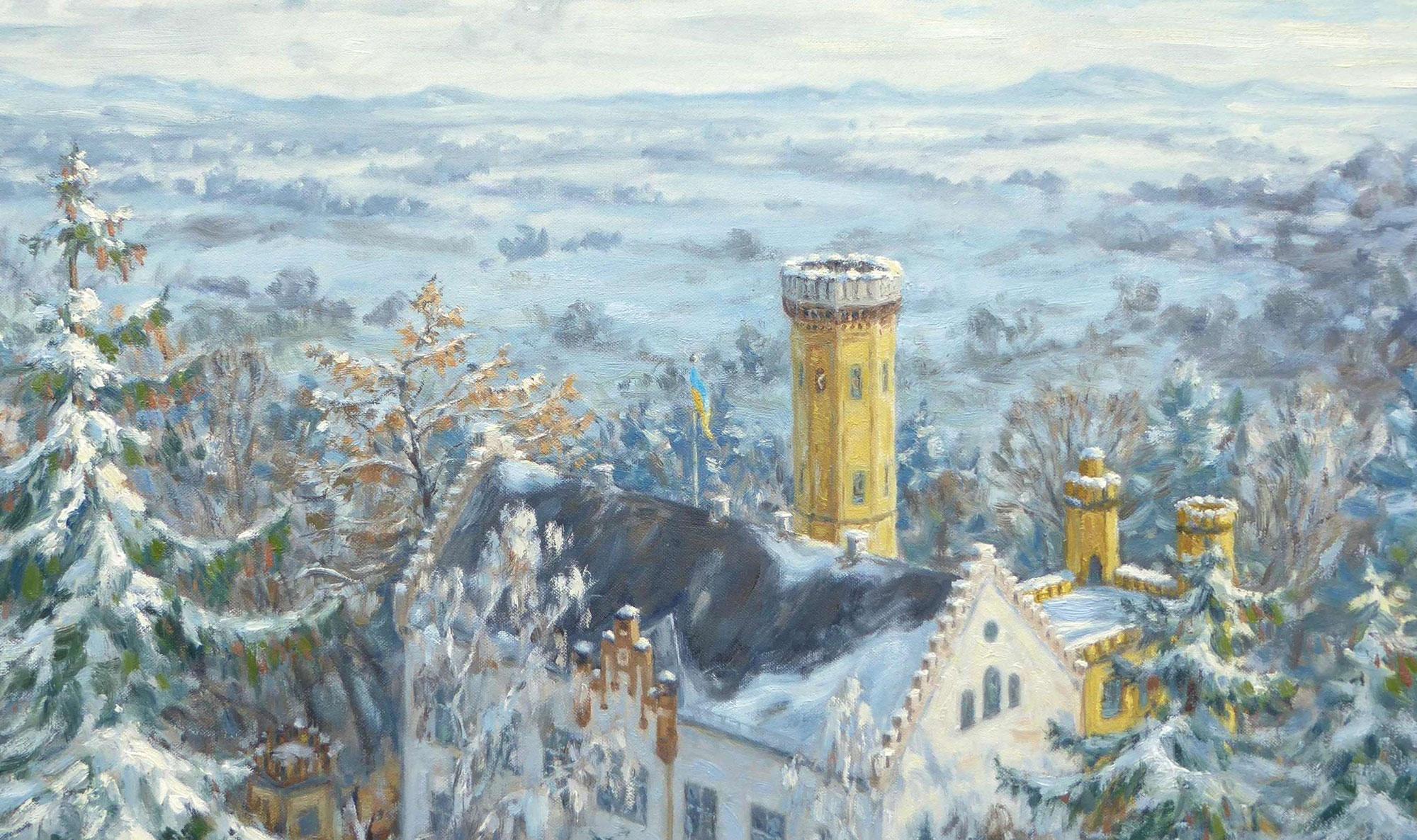 Schloss Wellenburg im Winter
