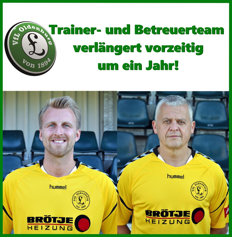 Vertrag mit Trainer- und Betreuerstab vorzeitig verlängert