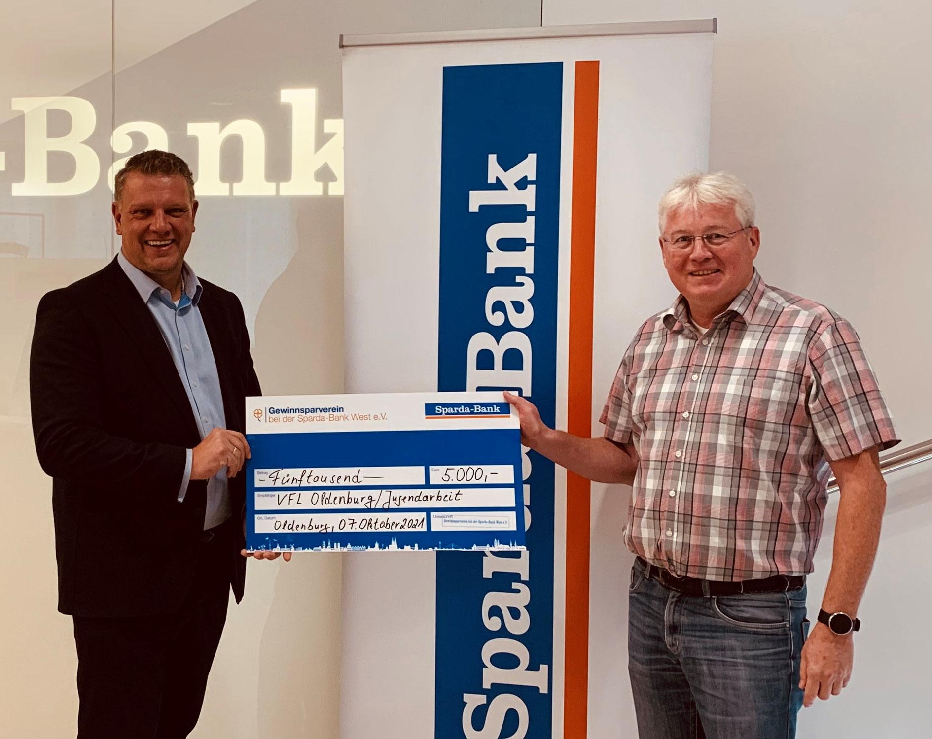 VfL Oldenburg Fußballabteilung bedankt sich für großzügige Spende