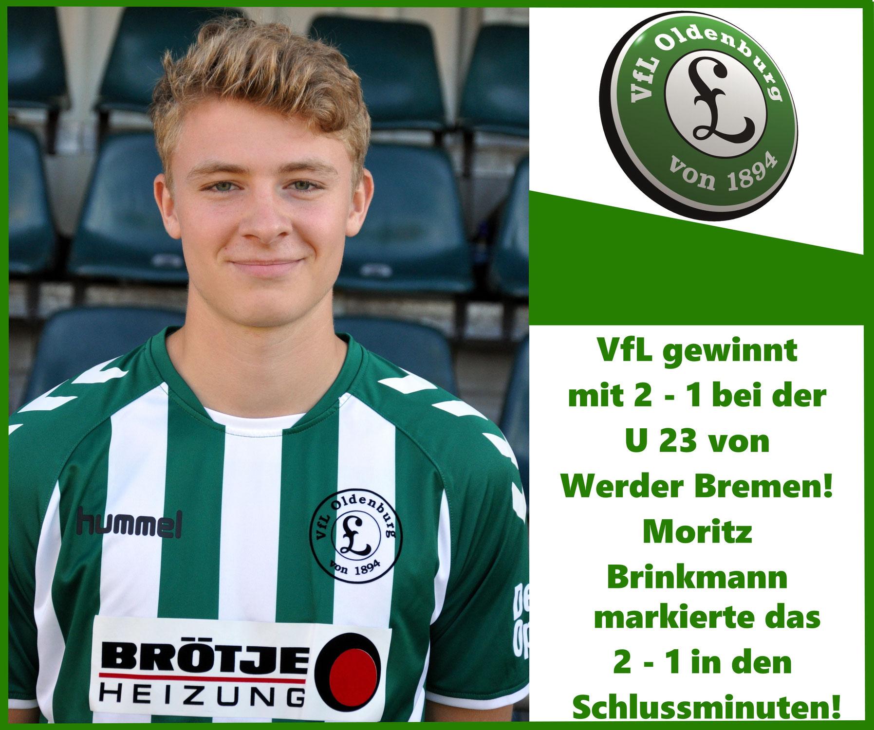 VfL schlägt U 23 von Werder mit  2- 1
