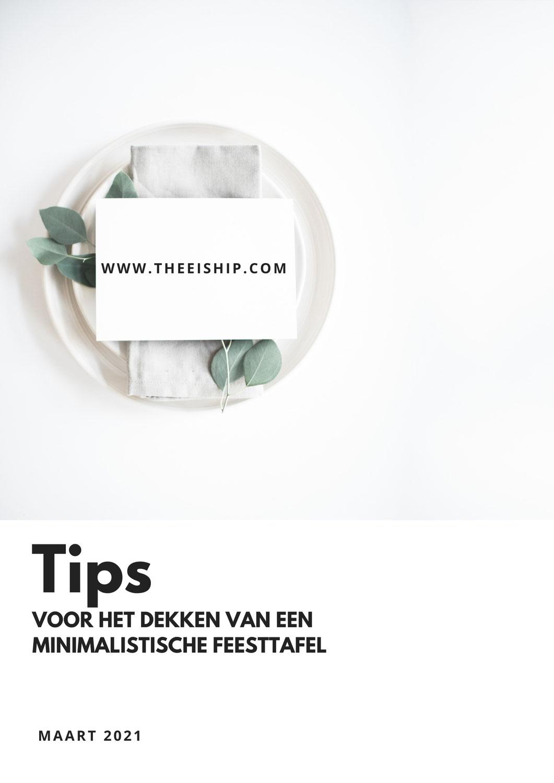 Tips voor het dekken van een minimalistische feesttafel.