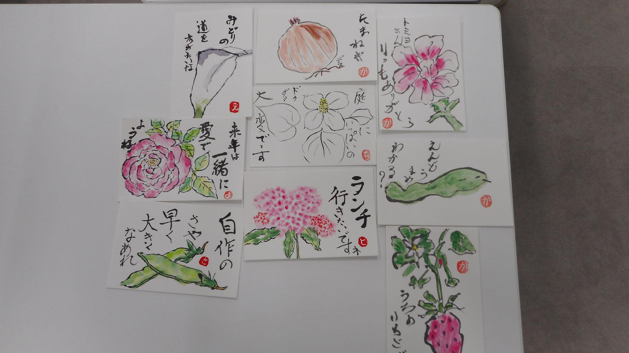 絵手紙教室(2021.5.21)