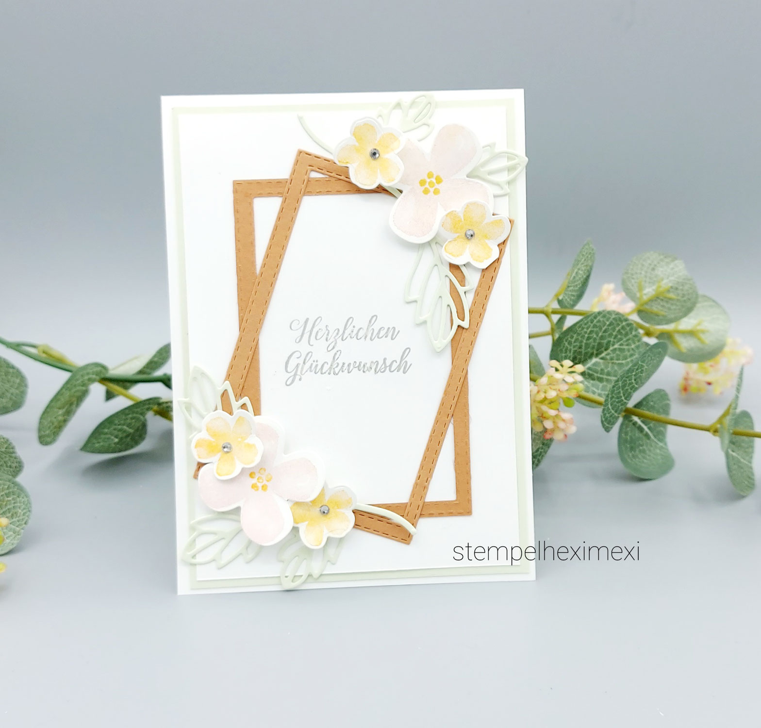 Anleitung Karte Blumen voller Freude Stampin'Up!