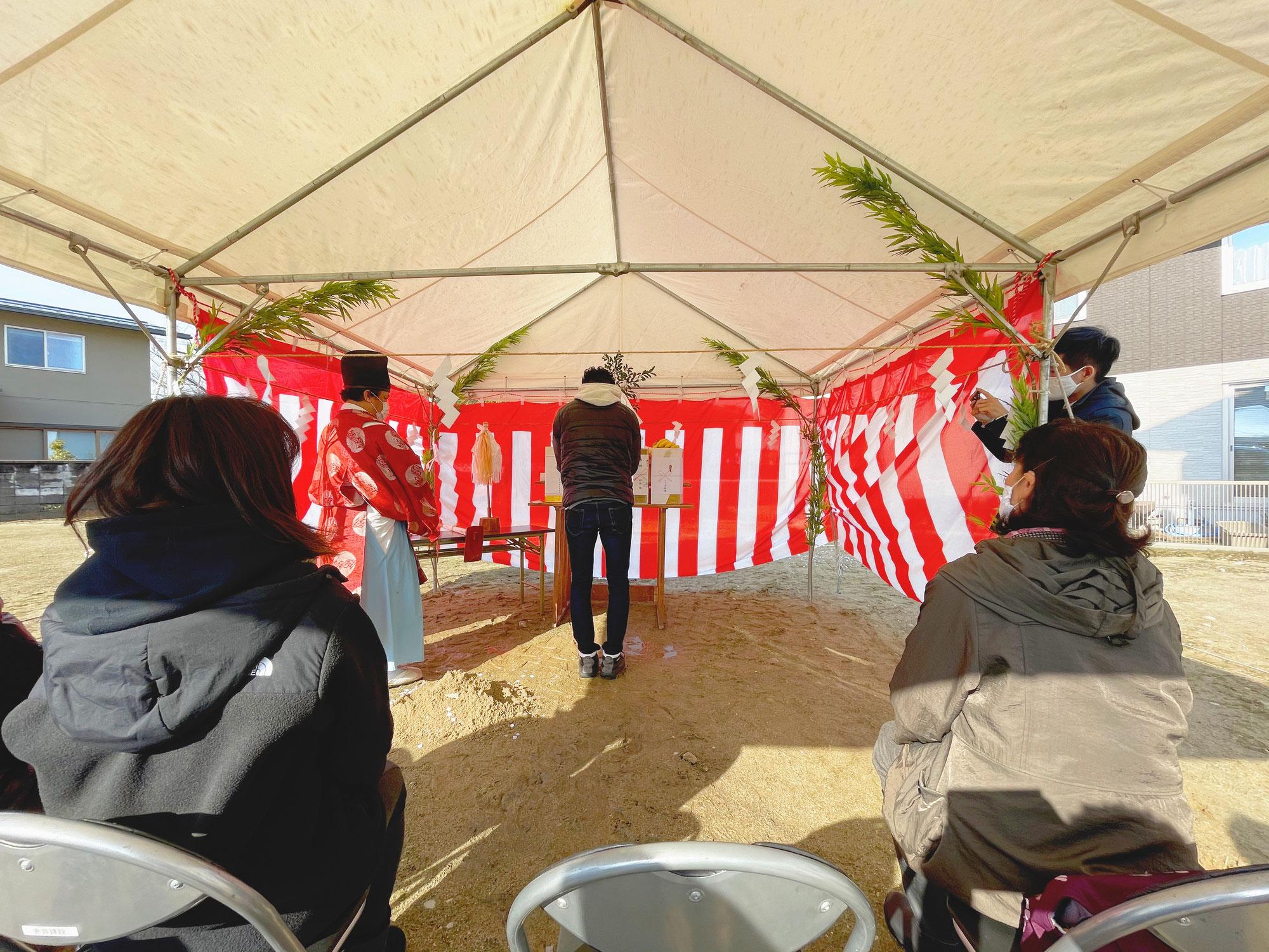 【大泉東町のM邸】の地鎮祭