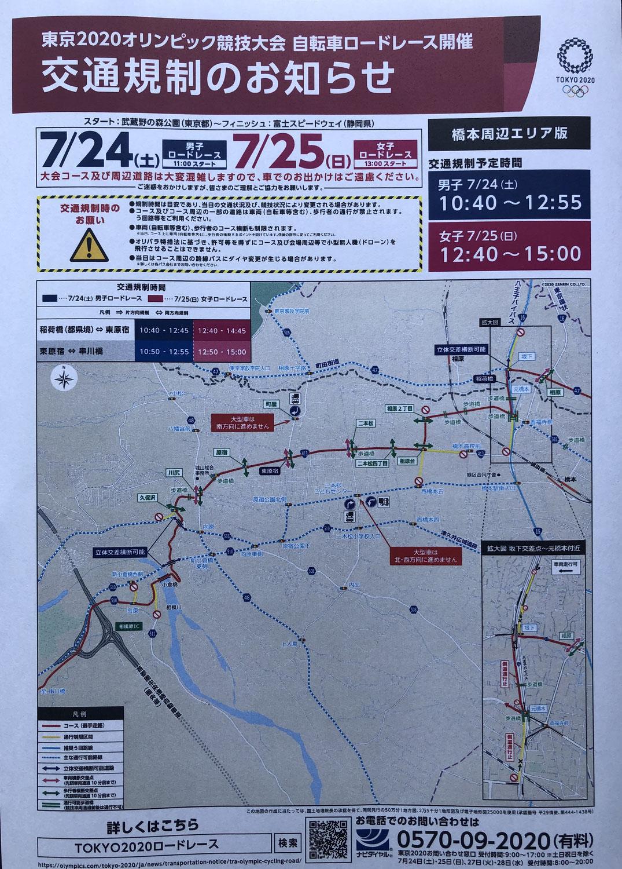東京2020オリンピック自転車ロードレース開催