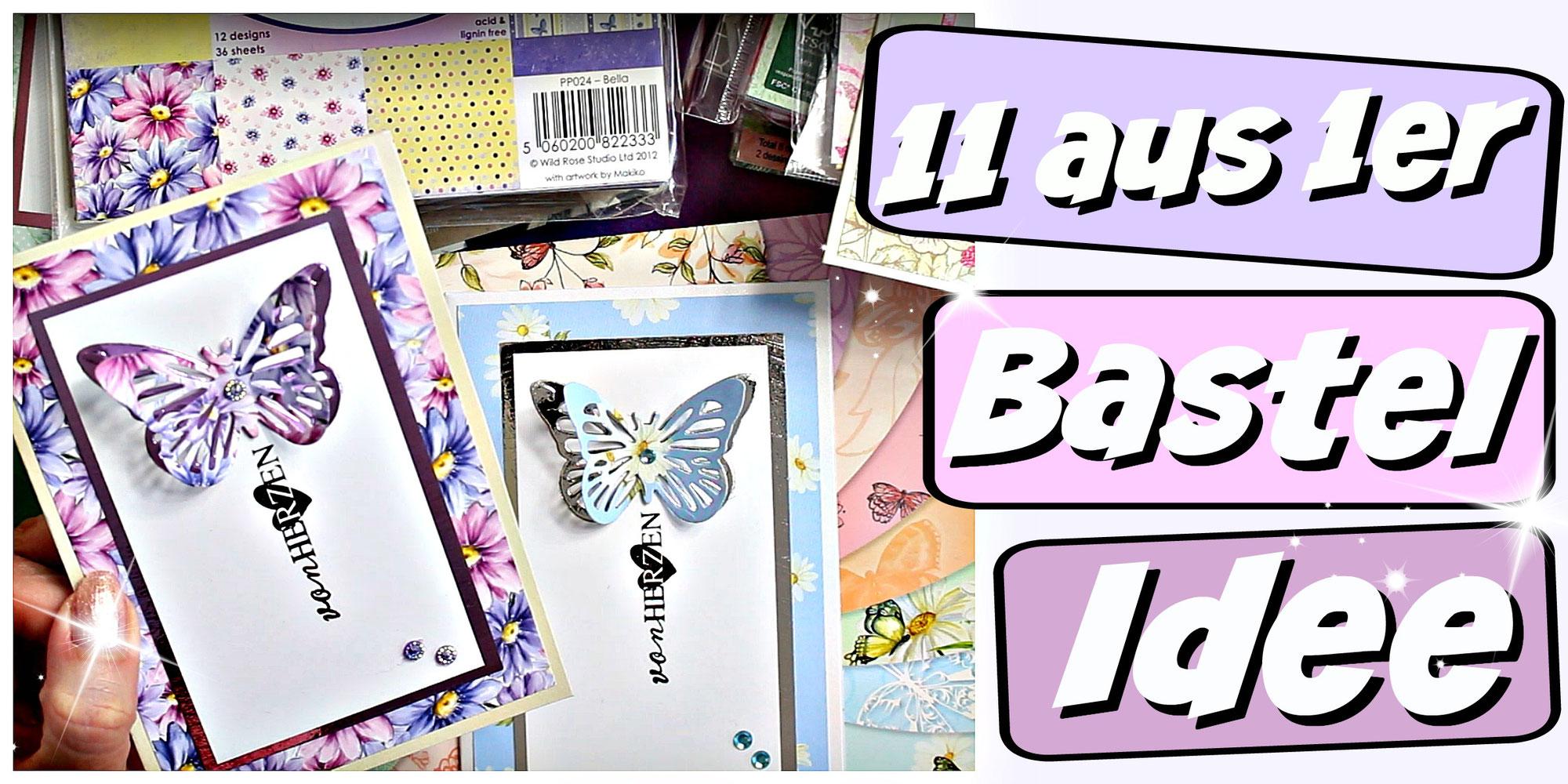 9999 Bastelideen - Nr. 1 - Muttertagskarte basteln - Karten basteln