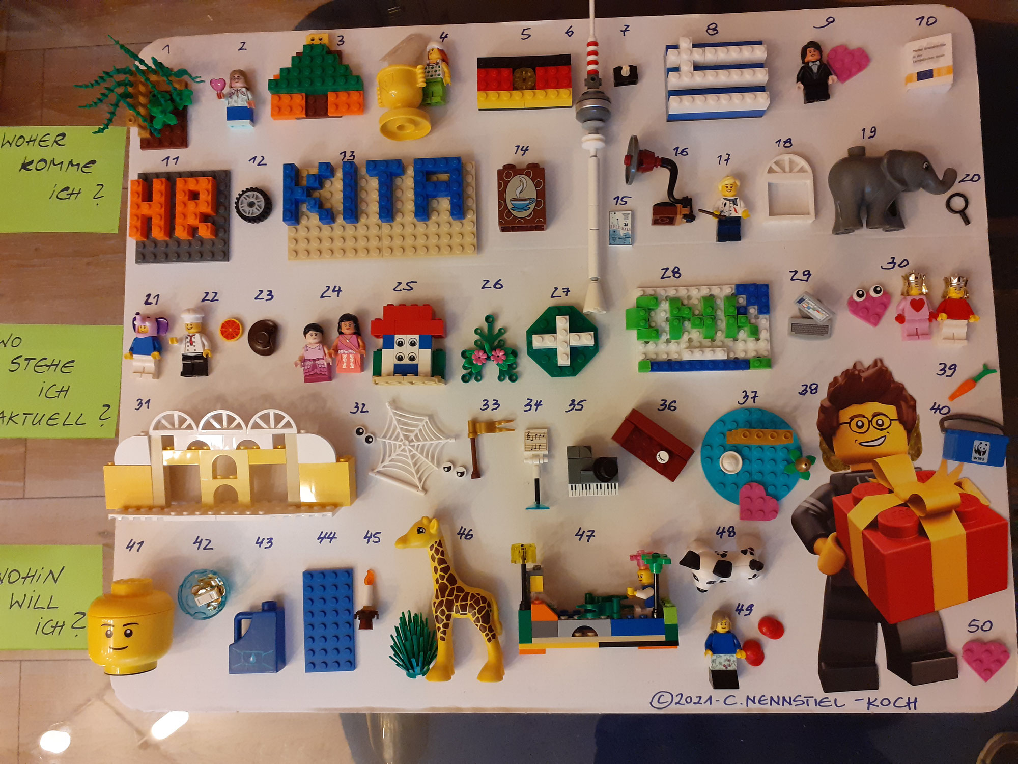 50 Fakten über mich mit LEGO®-Steinen