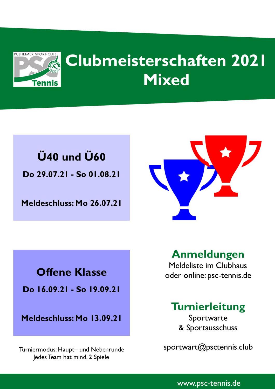 PSC Clubmeisterschaften im Mixed 2021