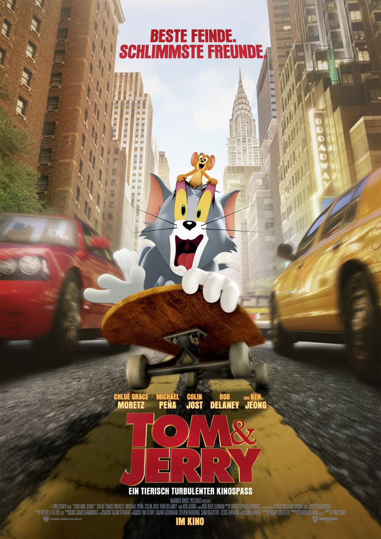 """""""Tom & Jerry"""" 2021 ‧ Kinderfilm/Komödie ‧ 1 h 41 min"""