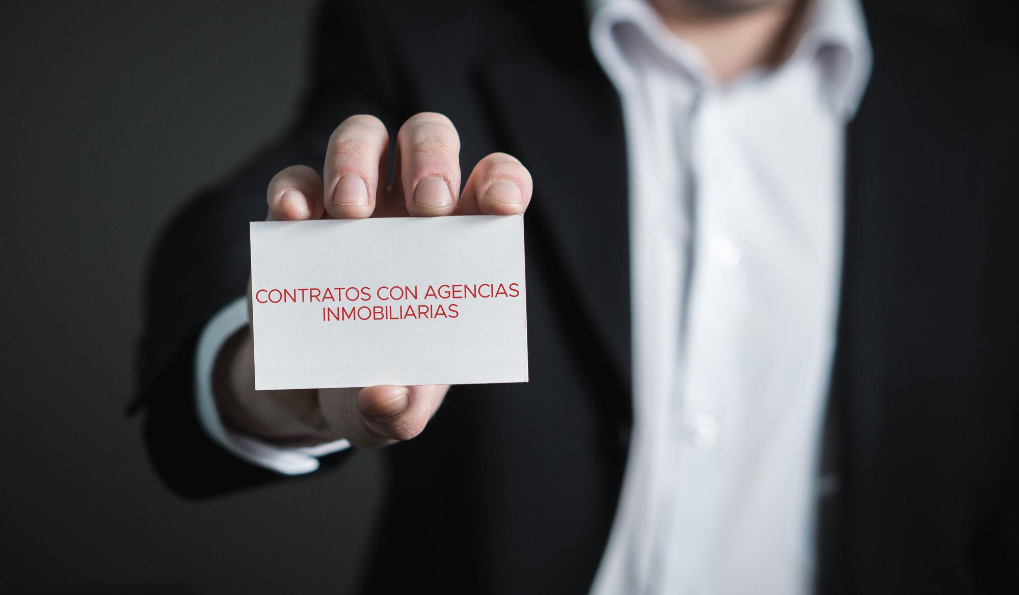 CONTRATOS CON AGENCIAS INMOBILIARIAS