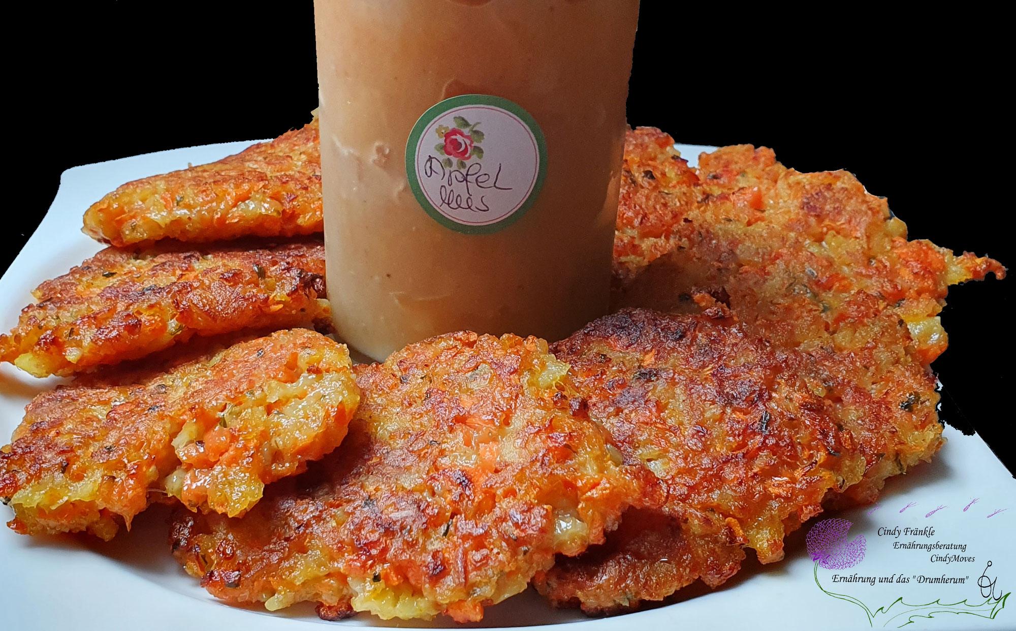 Karotten-Kartoffel Puffer vegan