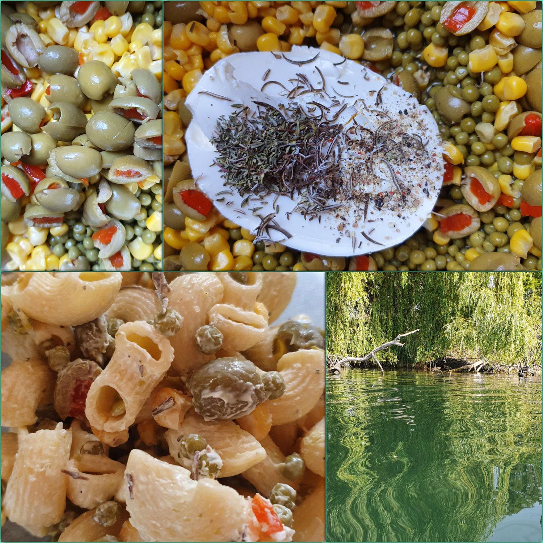 Zieh- Salat  Nudelsalat m. Oliven