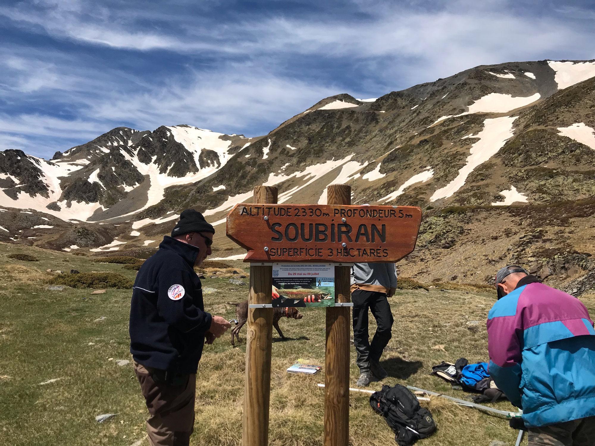 Pose & réparation panneaux lacs Trébens/Soubiran
