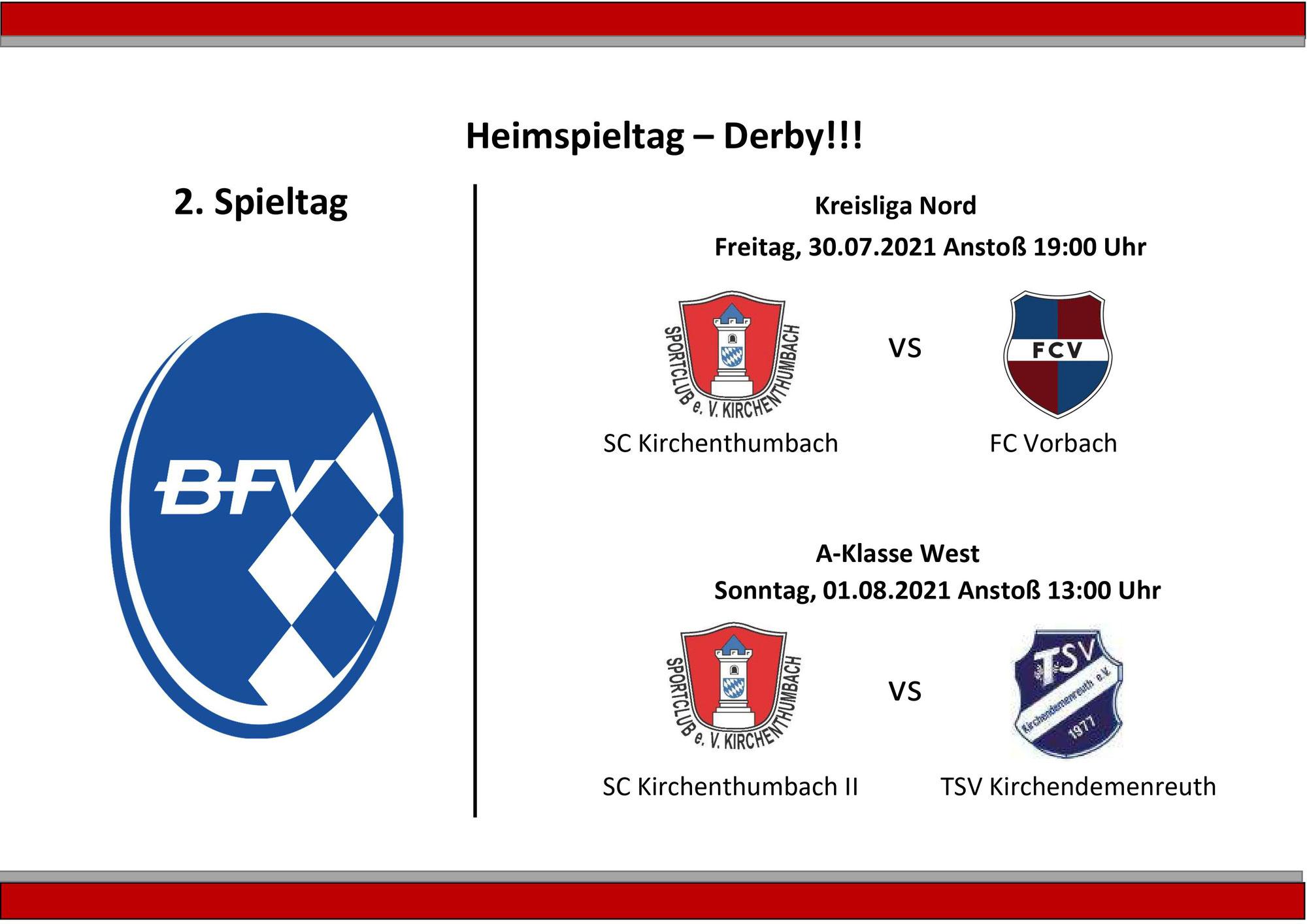 Derbykracher am 2. Spieltag in Kirchenthumbach