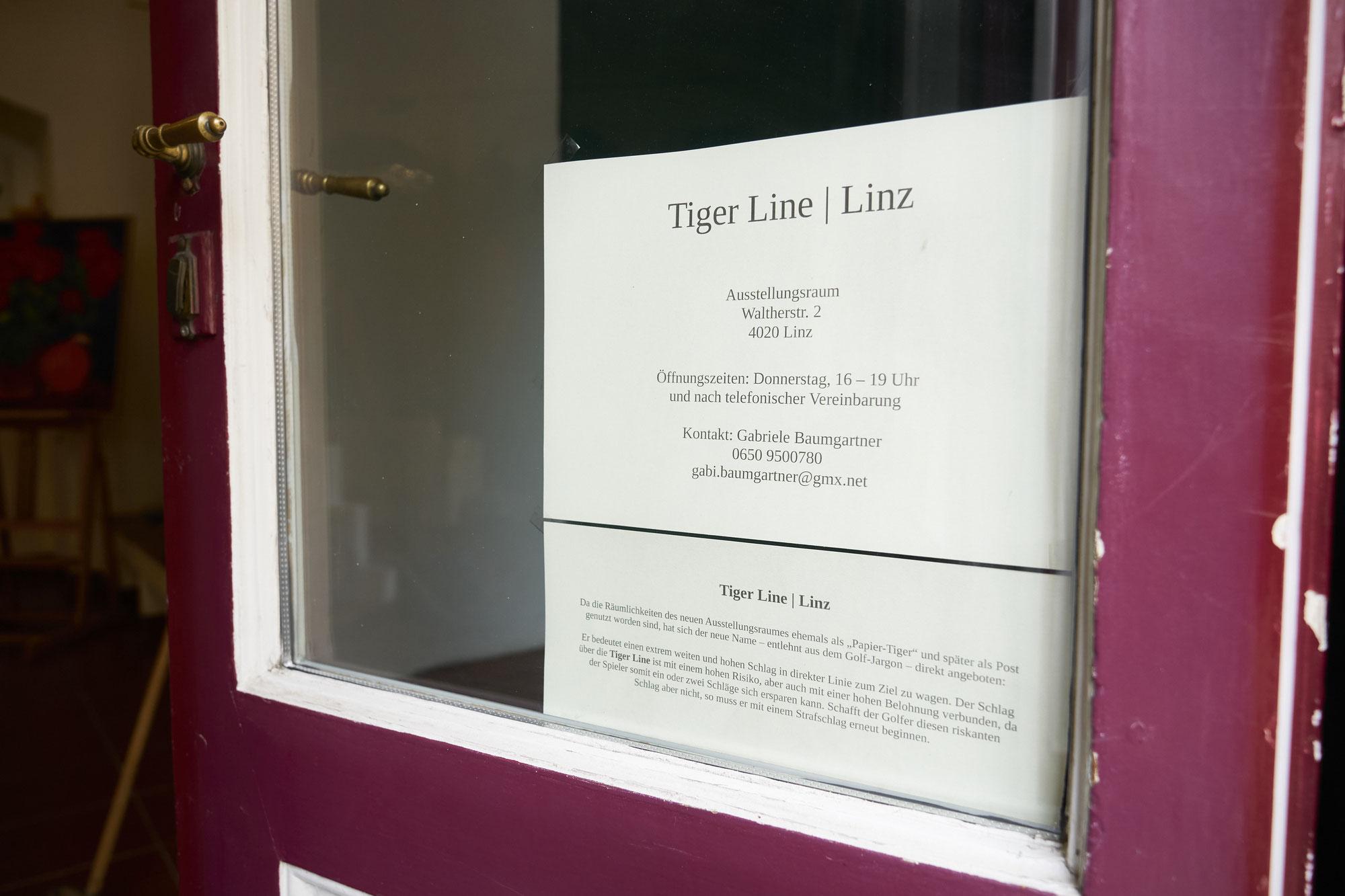 Neuer Ausstellungsraum: TIGER LINE   Linz