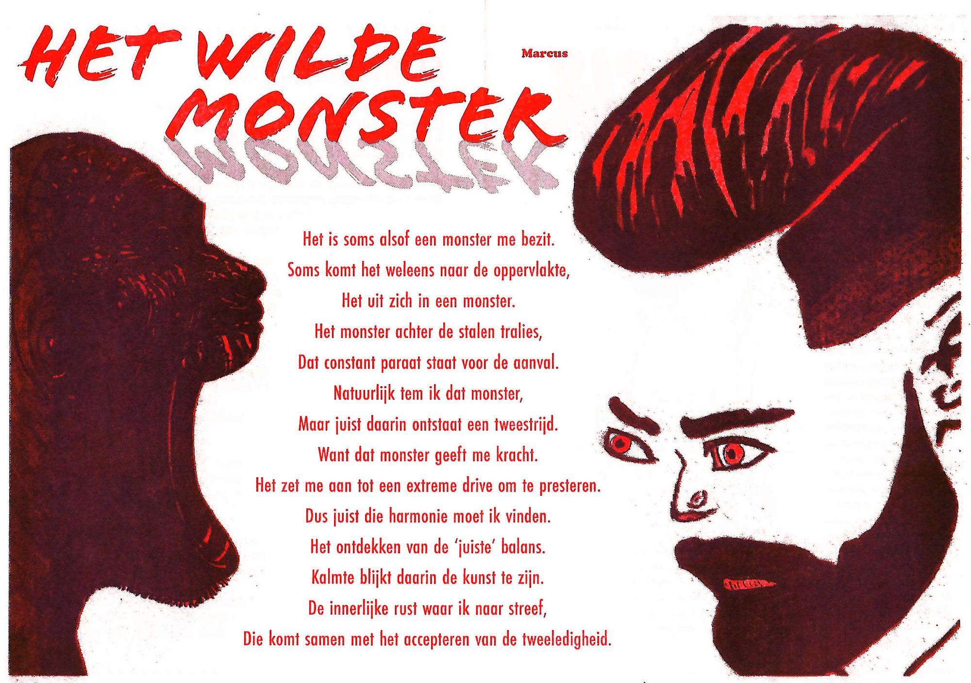 Marcus | Het wilde monster (gedicht)
