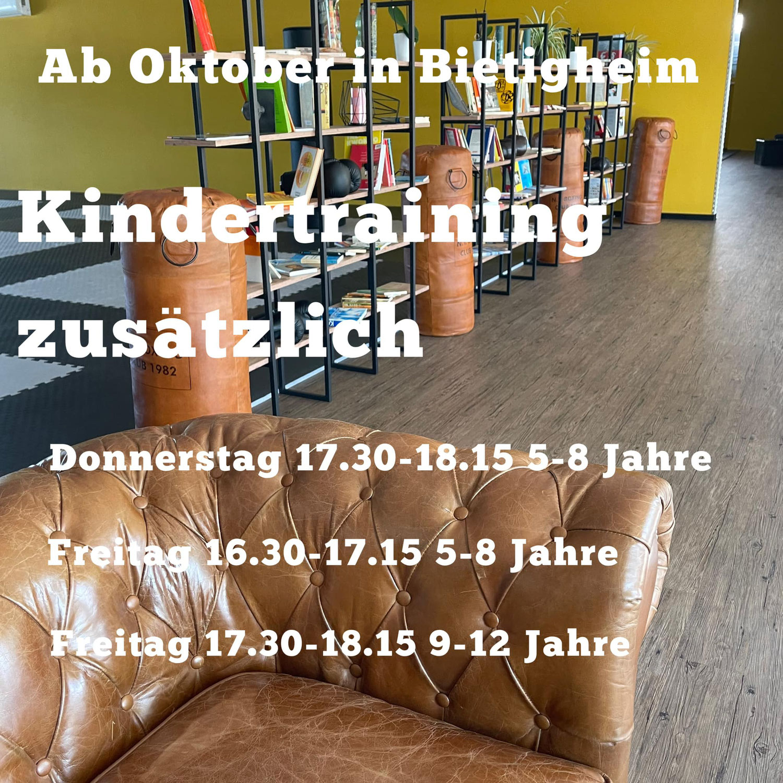 Kinder Training zusätzlich in Bietigheim-Bissingen