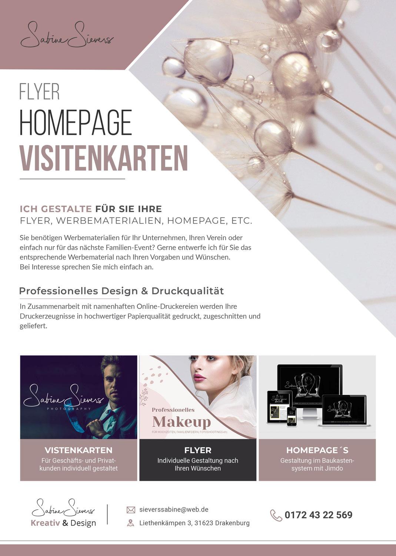 Homepage & Druckerzeugnisse