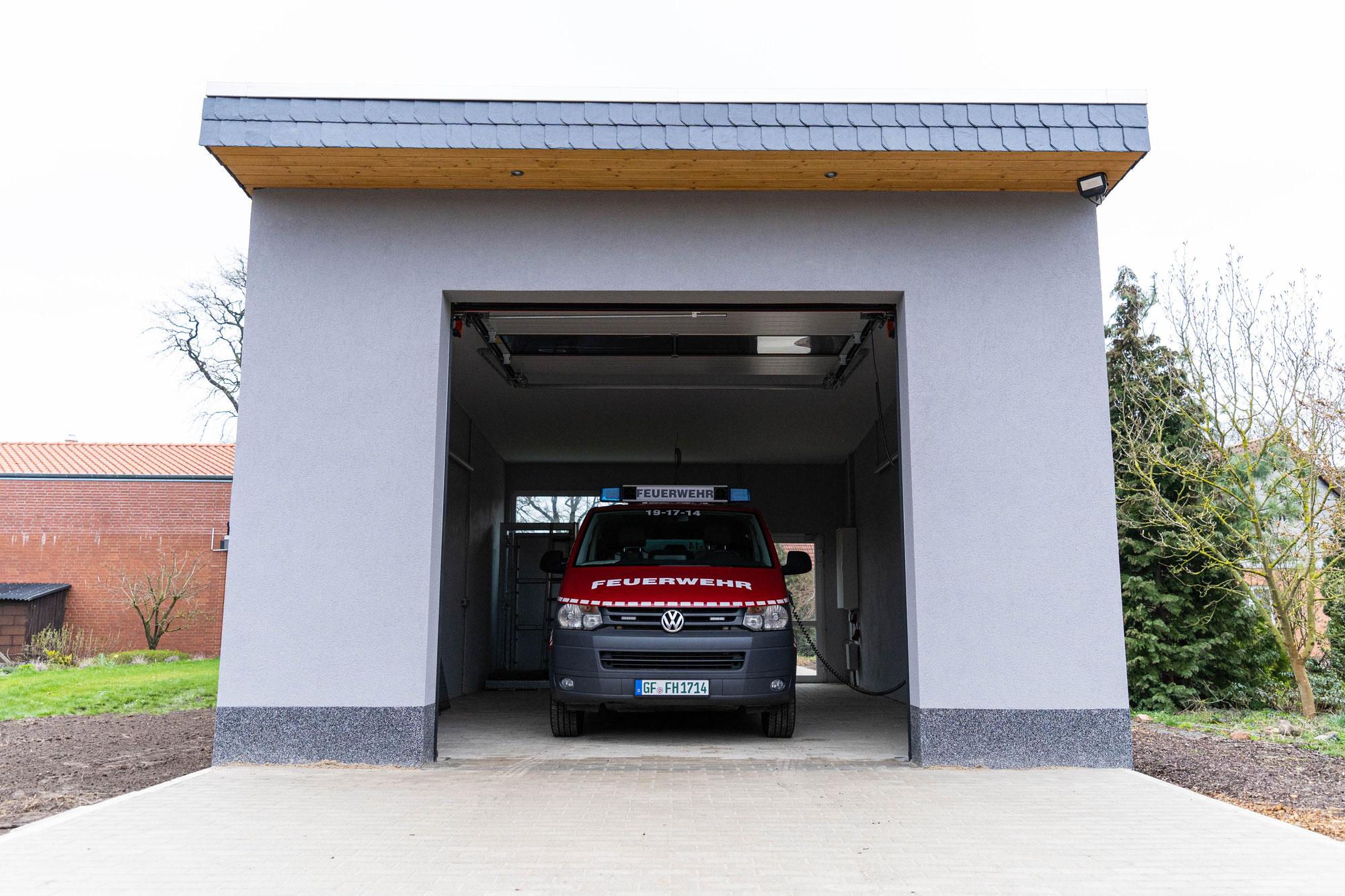 Neuer Stellplatz für Ahnser Mannschaftstransport-Fahrzeug (MTF)