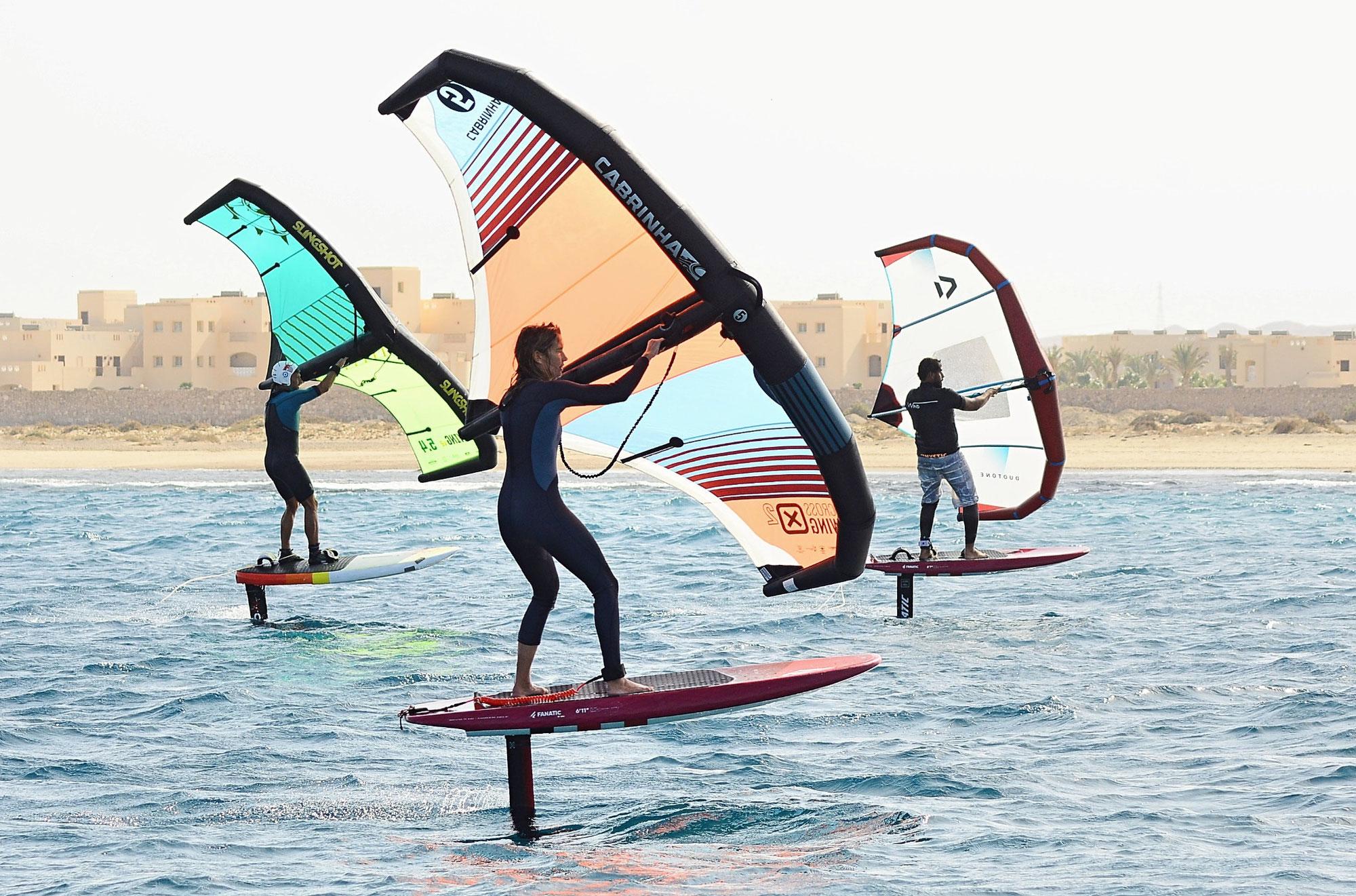 Mit Flügeln über das Wasser- Wingsurfen der Wassersport des Sommers 2021