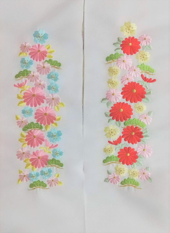 刺繍の半衿