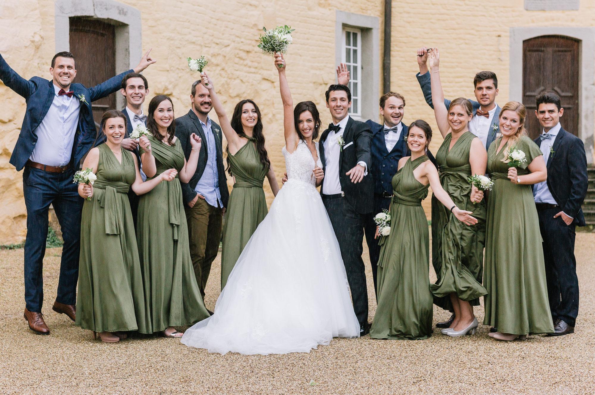 Hochzeitsfotograf Jüchen: Kirchliche Hochzeit auf Schloss Dyck