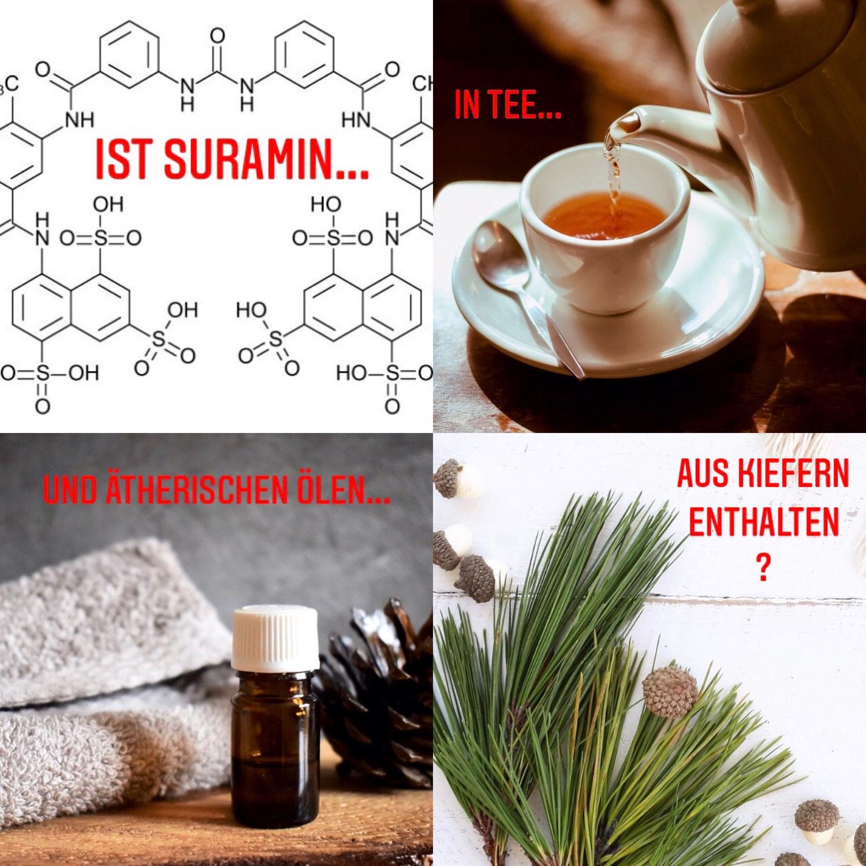 Ist Suramin in ätherischen Ölen enthalten?