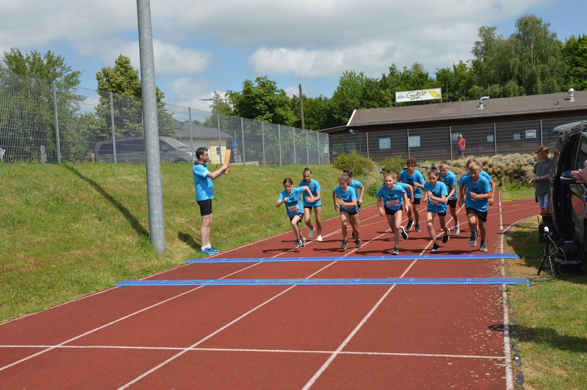 Papierstadtlauf unserer Sportklassen