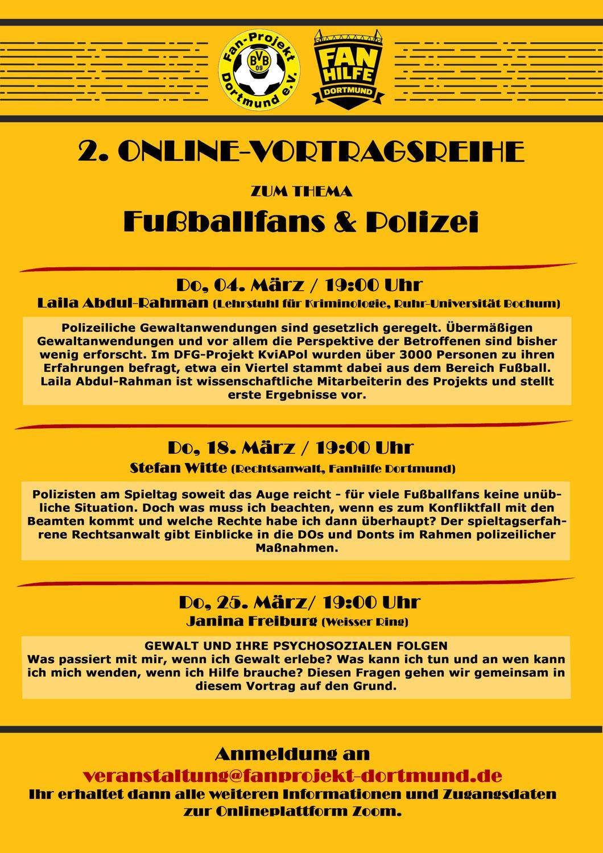 Veranstaltungsreihe zum Thema Fußballfans & Polizei