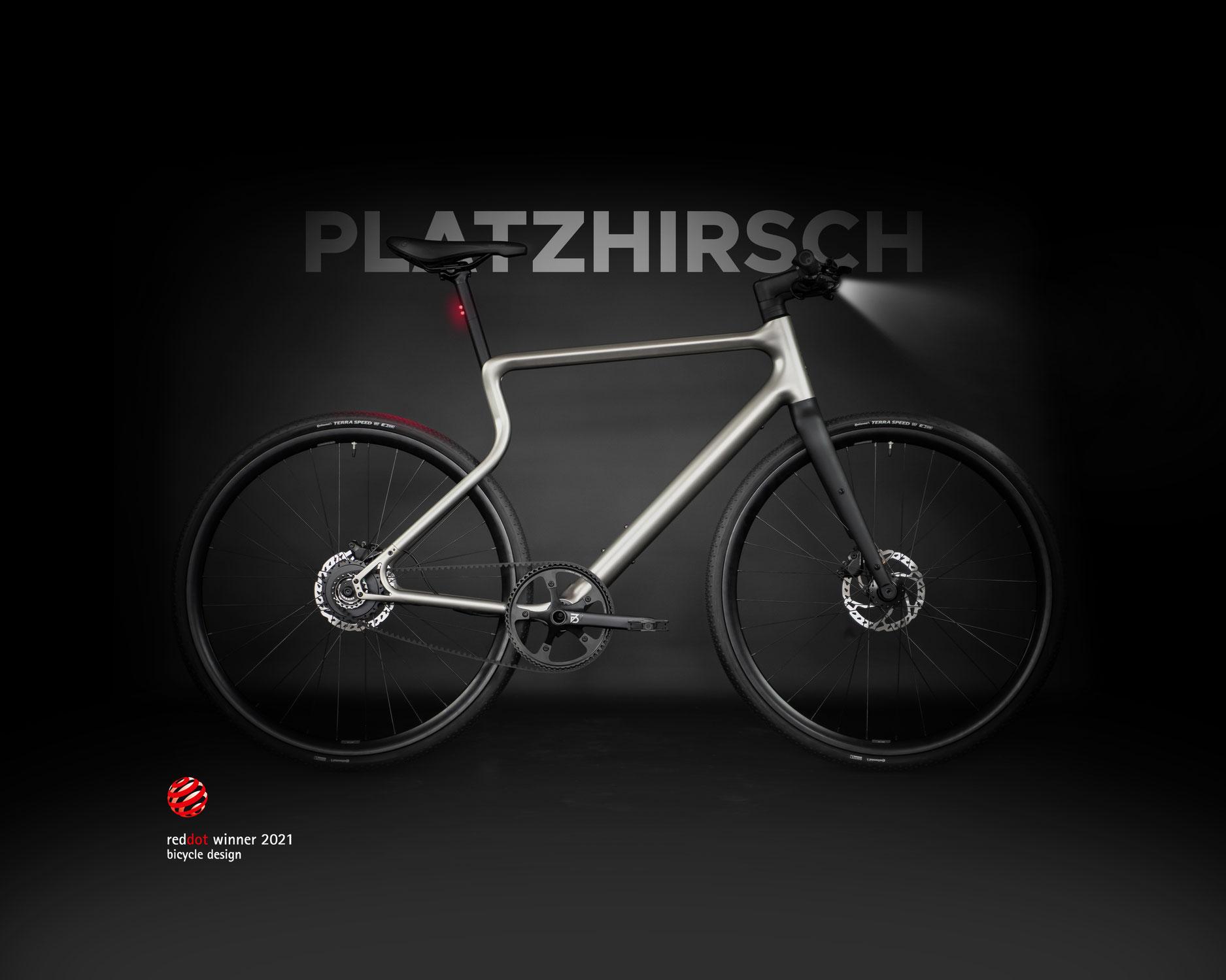 URWAHN BIKES | PLATZHIRSCH gewinnt Red Dot Product Design Award 2021