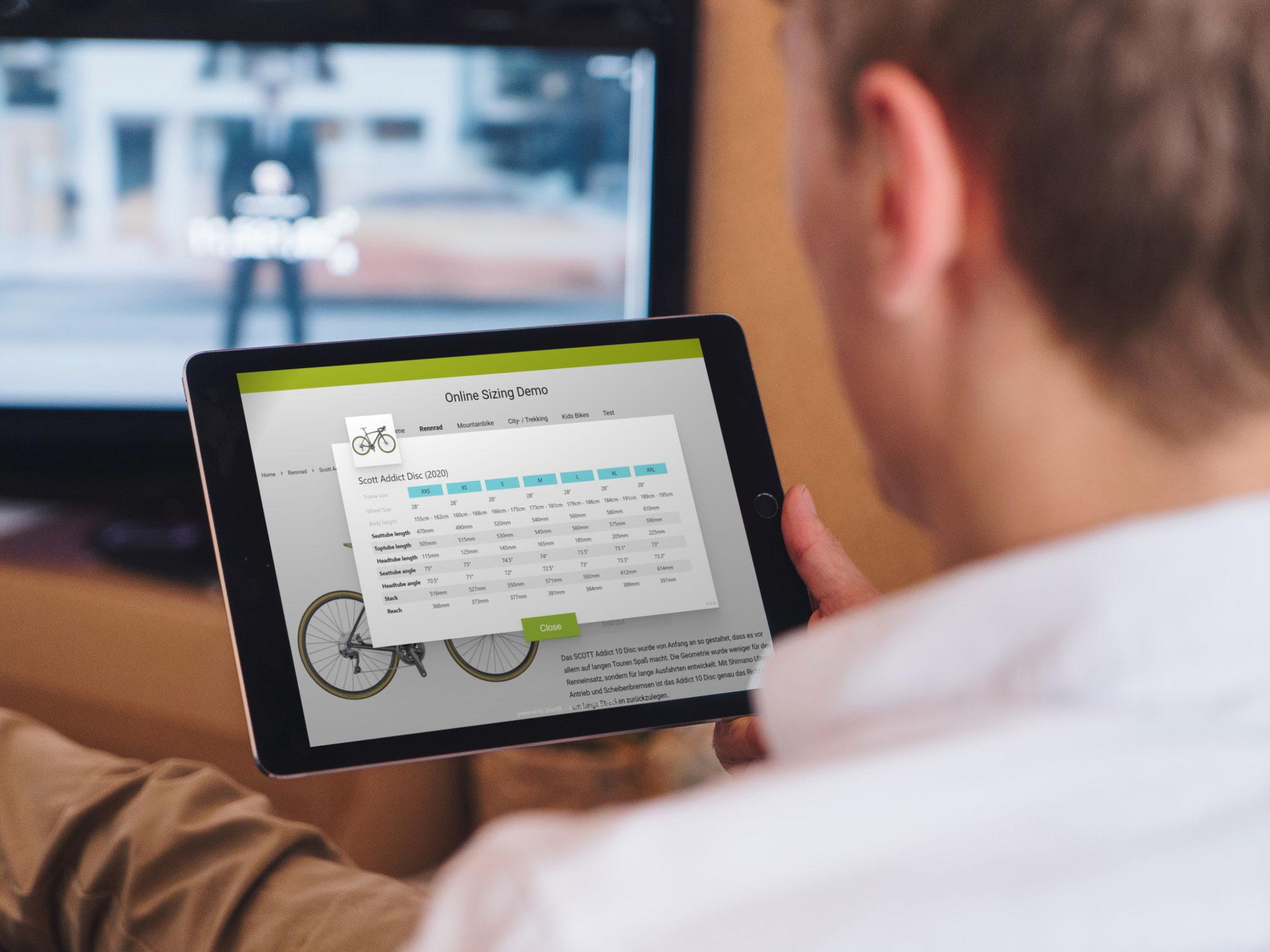 Smartfit OnlineSIZING - die Rund-um-Lösung