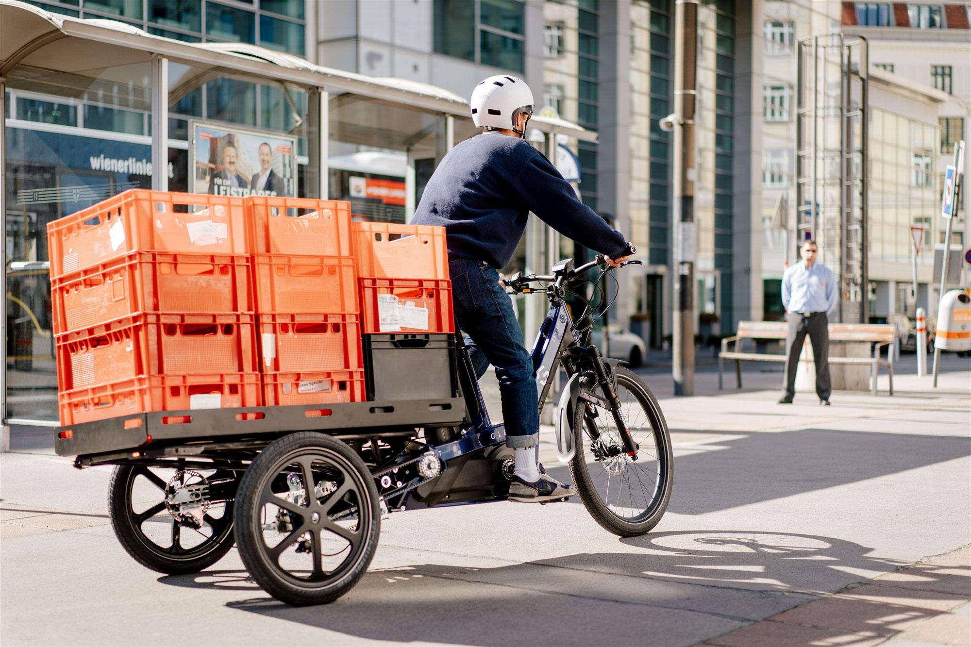 Urbane Mobilität: am Radweg auf der Überholspur