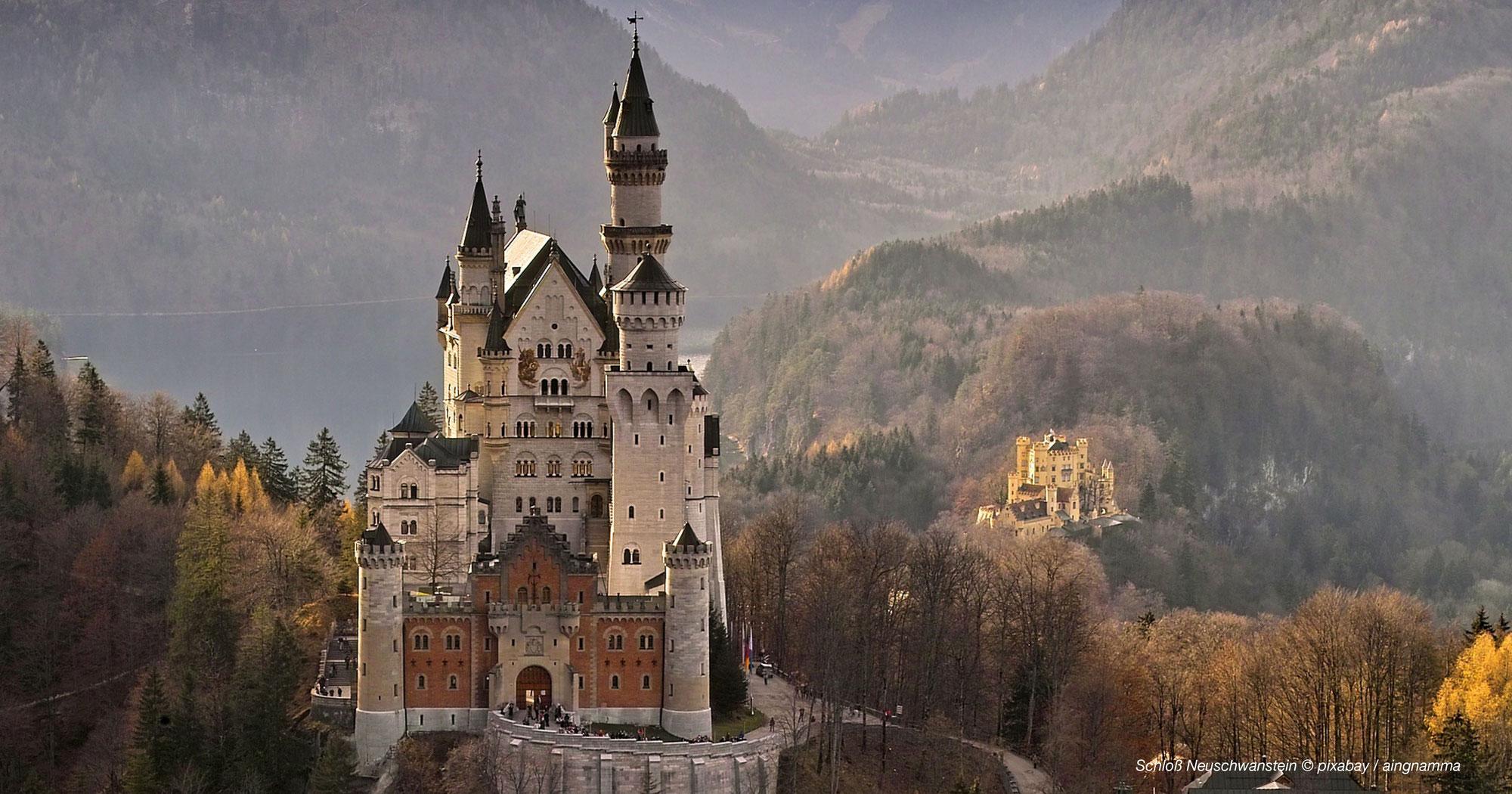 Schloss Neuschwanstein - Das Bayerische Märchenschloss im Allgäu