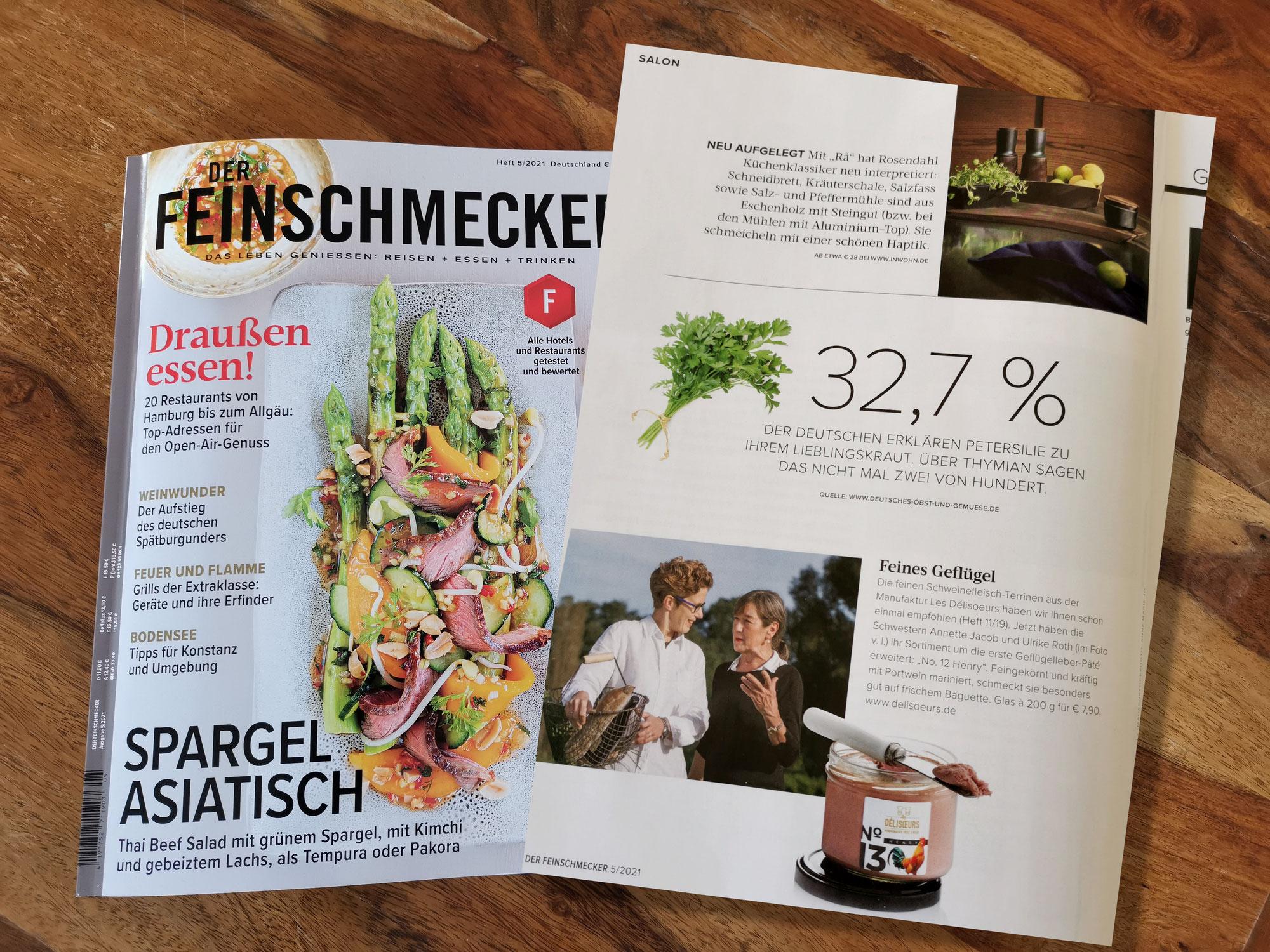 """""""Feines Geflügel"""" im Magazin DER FEINSCHMECKER"""