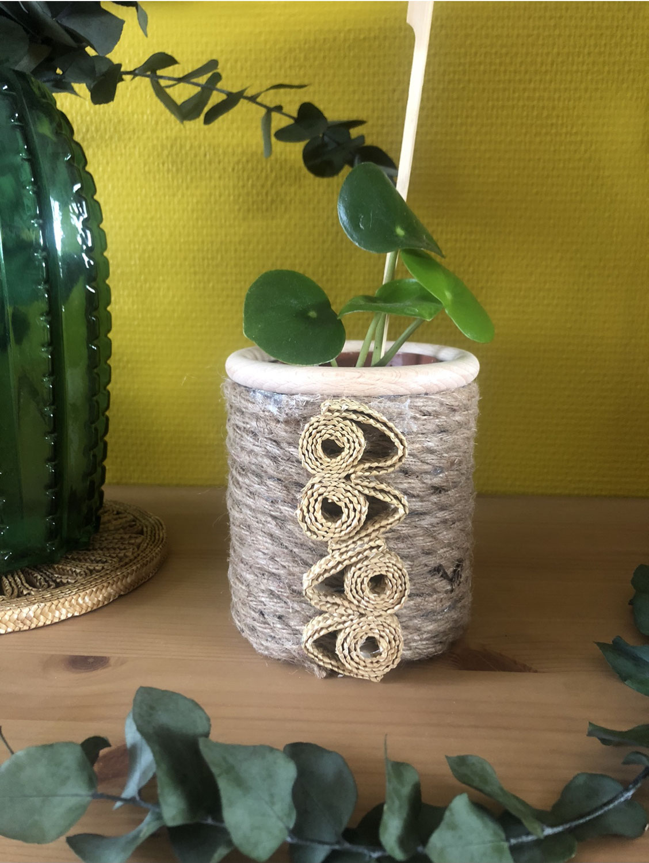 Upcycling boite de conserve/cache pot style bohéme